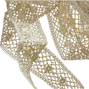 Vintage cotton detailed lace dolls 7+ yards