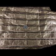 SALE!!!  Antique silk striped Civil War fabric dolls c