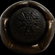 5 Matching antique metallic acorn buttons