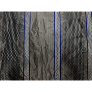 Antique Civil War silk fabric and lining rich sheen stripe dolls