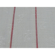 Antique embossed woven white and red striped cotton fabric dolls