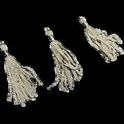 Antique silk crimped tassels dolls Ca 1875