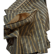 "Vintage Civil War plaid stripe unusual colors dolls 20"" selvages + lining"