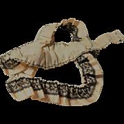 Antique silk ribbon net lace trim dolls Ca 1875