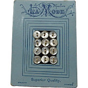 Vintage French small buttons original card doll