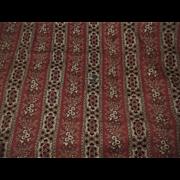 Antique turkey red stripe pattern cotton dolls roller print #1
