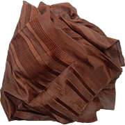 Antique Civil War era striped silk dolls