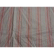 """Antique cotton red striped fabric 29"""" selvages roller print dolls 2 yards"""