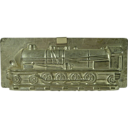 French Tin Locomotive Chocolate Mold Paris Maker Vintage