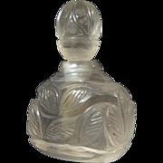 Turkish Mughal Carved Rock Crystal Perfume Bottle