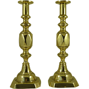 Original Victorian Ace of Diamonds Candlesticks