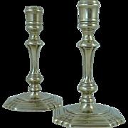 Pair of Georgian Paktong Candlesticks