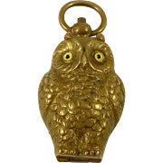Victorian Brass Owl Sovereign Case