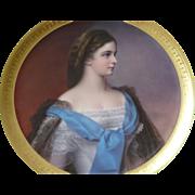 Elisabeth Kaiserin Austria Hungary F X Thallmaier Porcelain Cabinet Plate Plaque