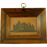 Eridge Castle Tunbridge Ware Burrows Picture Frame Wood Antique