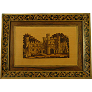 Eridge Castle Tunbridge Ware Wood Mosaic Picture Frame Victorian Antique