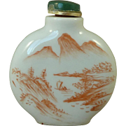 Marked Chinese Porcelain Snuff Bottle Hand Painted Nude Lady Vintage