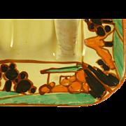 Clarice Cliff Toast Rack Orange Trees and House Fantasque Original Art Deco