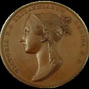 Queen Victoria Coronation 1837 Bronze Medal B. Pistrucci Antique