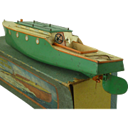 """Hornby """"VIKING"""" Speed Boat No 5 Meccano Toy Clockwork Tinplate Boxed Vintage"""