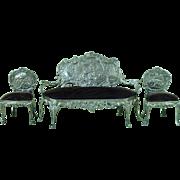 Miniature 1901 English Hallmarked Silver Salon Suite William Comyns