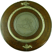 Antique Large Table Snuff Box Oak Wood York Minster Fire 2nd West York Regiment Fire May 20 1840 Cathedral Military Souvenir