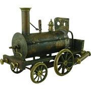Victorian Toy Live Steam VENUS Locomotive Train Tender Brass Birmingham Dribbler Piddler Stevens Model Dockyard 1880