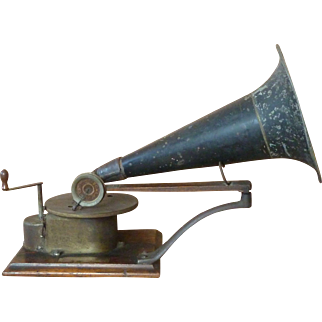 1901 Victor 'A' Talking Machine Berliner Horn Gramophone Antique Original