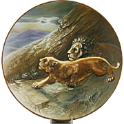 Nippon Blown Out Lion Plaque