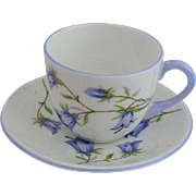 Shelley Harebell Miniature Cup and Saucer