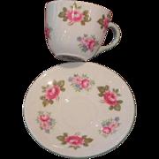 Shelley Rosebud Miniature Cup & Saucer, Westminster pattern