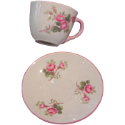 Shelley Rose Spray (Bridal Rose) Miniature Cup & Saucer