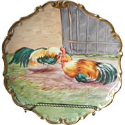 Limoges Rooster Hanging Wall Plate