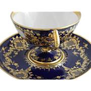 Dresden Cobalt and Gold Footed Cup & Saucer - Red Tag Sale Item
