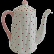 Shelley Dainty Pink Polka Dot Coffee Pot