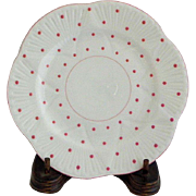 Shelley Dainty Pink Polka Dot Bread Plate