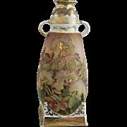 Nippon Coralene Vase