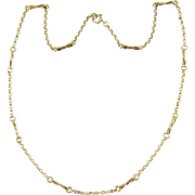 Vintage Fancy Link Chain Necklace, 9 Carat Yellow Gold Necklace. Circa 1970s, 47.5 cm / 18.7 inches Long.