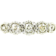 Antique Five Stone Diamond Ring, Graduated Old Mine Cut Diamond Engagement Ring. Circa 1880s, 18ct.
