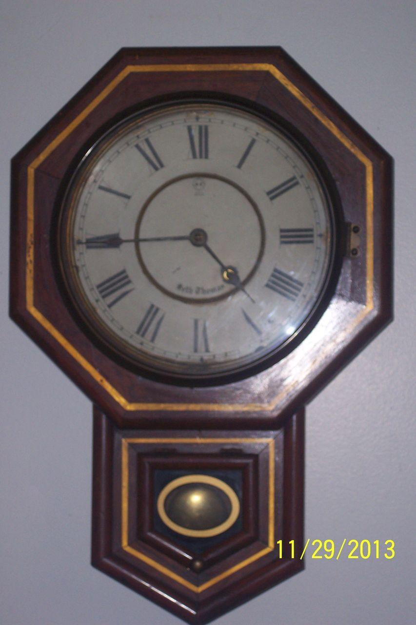 Antique seth thomas 188039s regulator wall clock red tag for Seth thomas wall clocks value