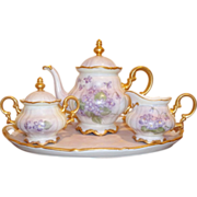 Vintage Hutschenreuther Tea Set - Hand-painted - Bavaria