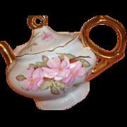 Vintage Lefton Teapot / Tea Pot - Magnolias ? - Mint