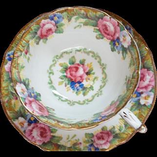 Vintage Paragon Tea Cup & Saucer - Tapestry Rose