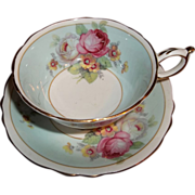 Vintage Paragon Tea Cup and Saucer - Multi-Colored Florals