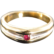14K 0.06 Ct Ruby Channel Set Designer Ring Size 8.25 Yellow Gold