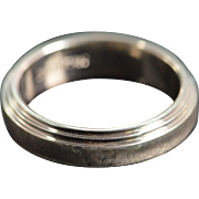 Platinum Matte Finished Designer Scott Kay Wedding Band Ring Size 9