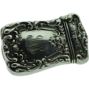 925 Silver Edwardian Repousse Matchstick Match Case Monogrammed MMS