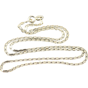 "18K 1.8mm Fancy Link Chain Necklace 17.75"" Yellow Gold"