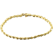 "14K 3.2mm Rope Chain Bracelet 8.5"" Yellow Gold"