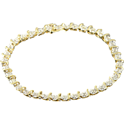 "10K 0.75 CTW Diamond Tennis Bracelet 7.25"" Yellow Gold"